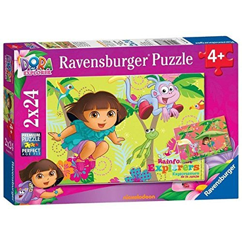 Explorer Board Dora The Game (Dora The Explorer 2x24 Puzzles Ages 4+)