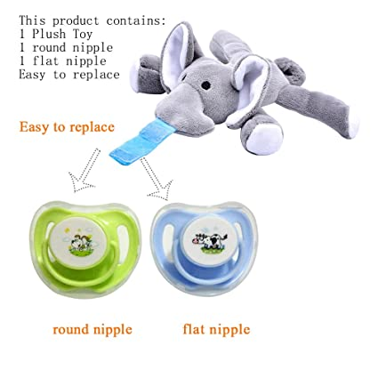 Amazon Com Plush Toy Use With Multiple Brand Name Pacifiers 1