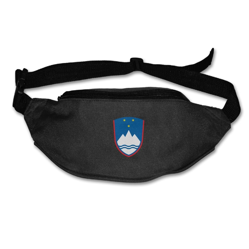 Futong Huaxia Coat Of Arms Of Slovenia Unisex Waist Packs Adjustable Outdoor Running Sport Hiking Fanny Packs Wallet