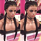 Fureya Hair 8A Unprocessed Peruvian Vogue Middle Part Straight Lace Front Human Hair Wigs with Baby