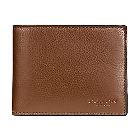 3f7845530be6 Amazon.com  Coach Compact ID Wallet in Sport Calf Leather (Dark Saddle) -  F74991 CWH  Net2plus2