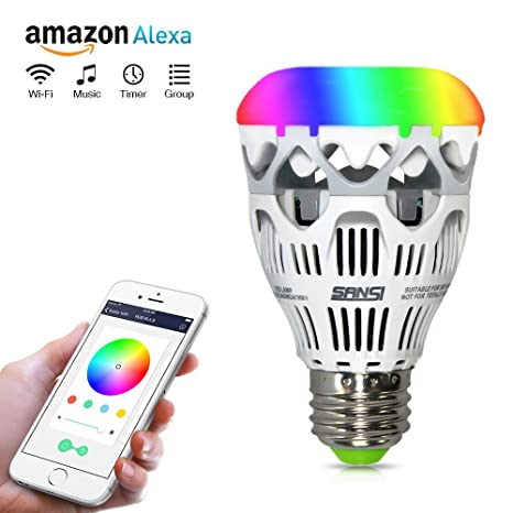 control lighting with iphone. Delighful Lighting Sansi Smart RGB Light Bulb WiFi A19 Dimmable Group Control On Lighting With Iphone