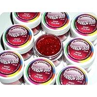 Rainbow Dust Non-Toxic Cake Glitter Decoration Sparkle Range JEWEL FIRE RED