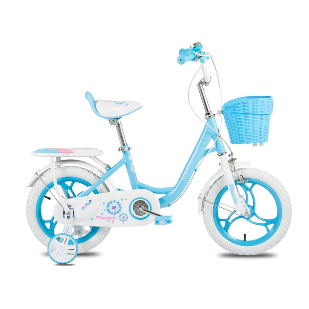 HAIZHEN マウンテンバイク 子供の自転車2-3-6歳女の子の自転車12-14-16インチベビーカーの自転車 新生児 B07C5P6D2H 14 inch|青 青 14 inch