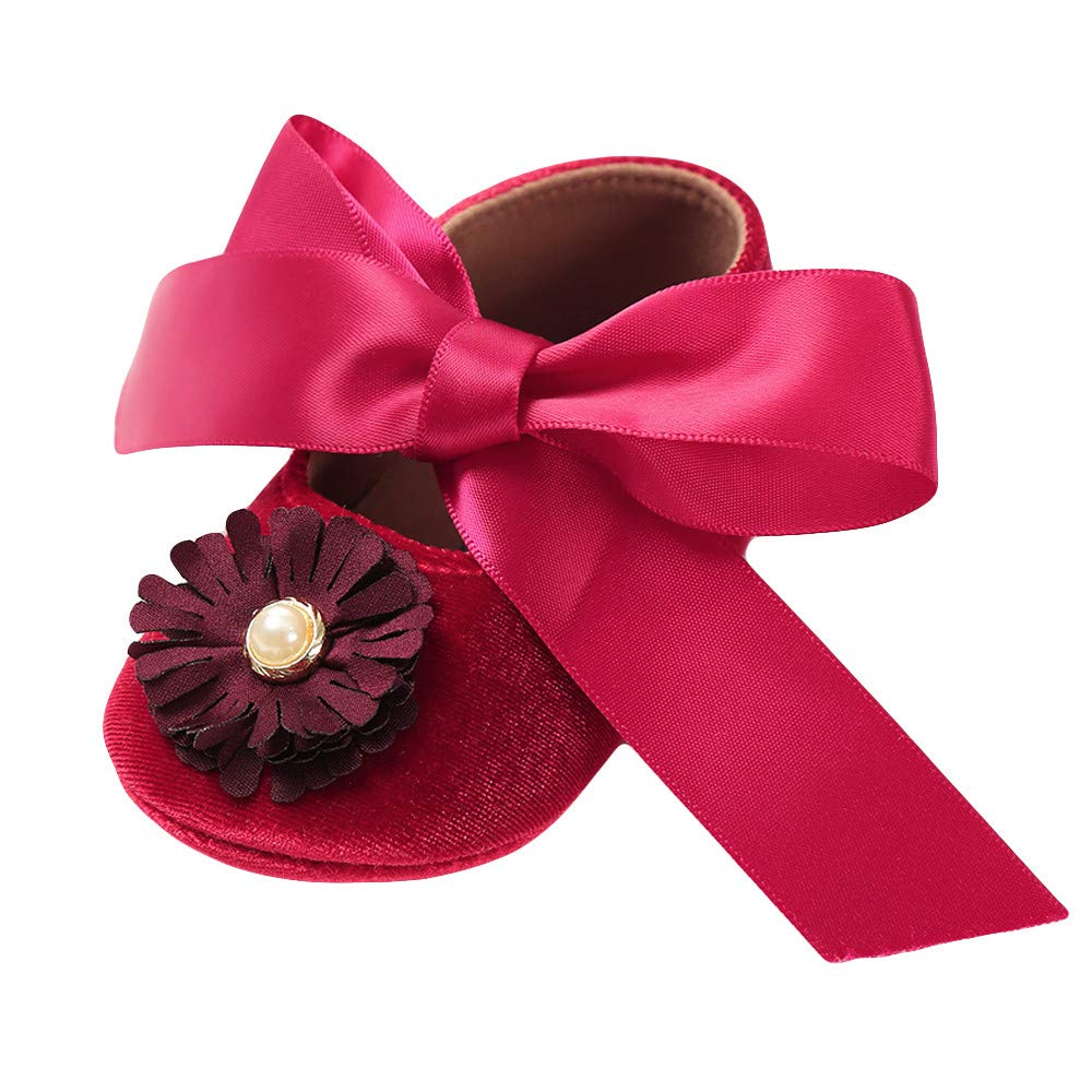 HOSOME Baby shoes Girl Bandage Velvet Shoes Fashion Toddler First Walkers Shoes