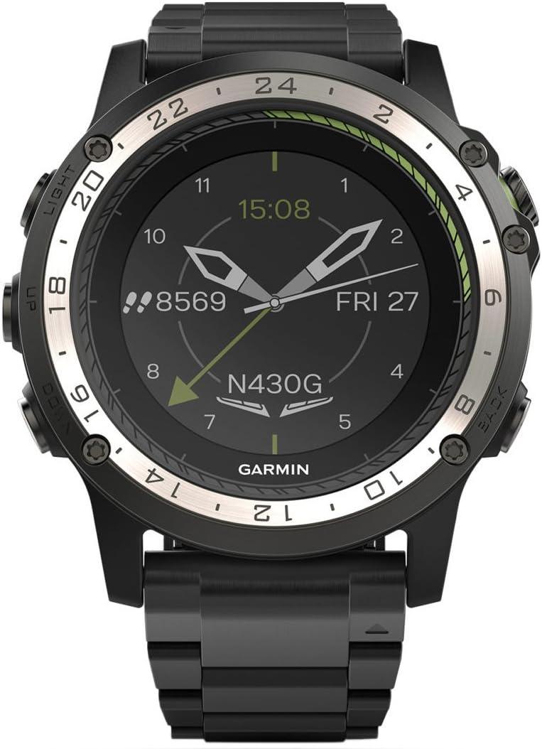 Garmin D2 Charlie - Reloj digital con bisel y correa de titanio, negro