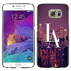 KOKO CASE / Samsung Galaxy S6 SM-G920 / la los angeles city big skyscrapers panorama view / Slim Black Plastic Case Cover Shell Armor