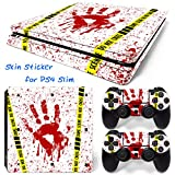 MODFREAKZ™ Console and Controller Vinyl Skin Set - White Bloody Print for PS4 Slim