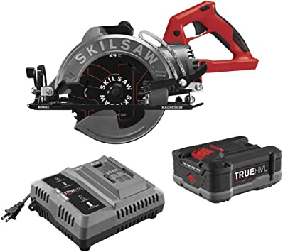 Amazon Com Skilsaw Spth77m 11 48v 7 1 4 Truehvl Cordless Worm Drive Saw Kit With 1 Battery Home Improvement