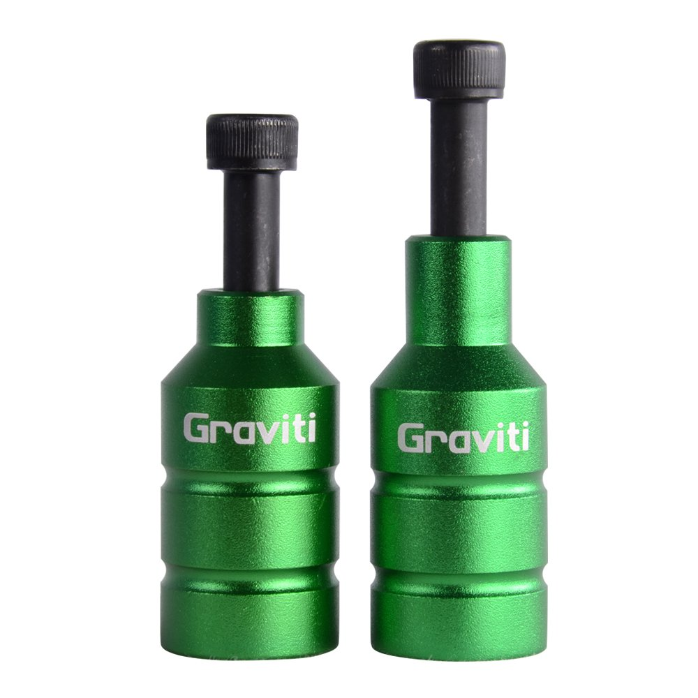 GRAVITI Pro Stunt Scooter Pegs CNC Aluminum Pegs with Strong Axle Hardware for Kick Stunt Scooter Freestyle Stunt Scooters (Green)