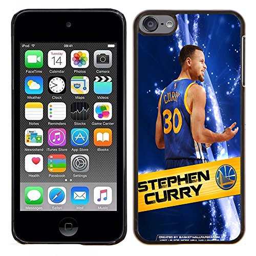 iPod Touch 5 Case, iPod Touch 6 Cases, Warriors Basketball Team Logo 57 Drop Protection Never Fade Anti Slip Scratchproof Black Hard Plastic Case
