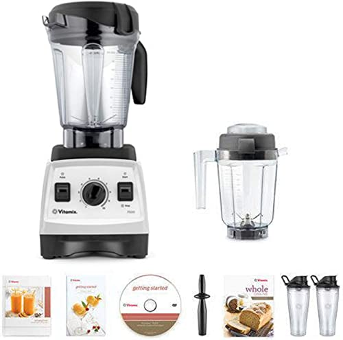 Vitamix 7500 Blender Super Package, with 32oz Dry Grains Jar and 2- 20oz To-Go Cups White
