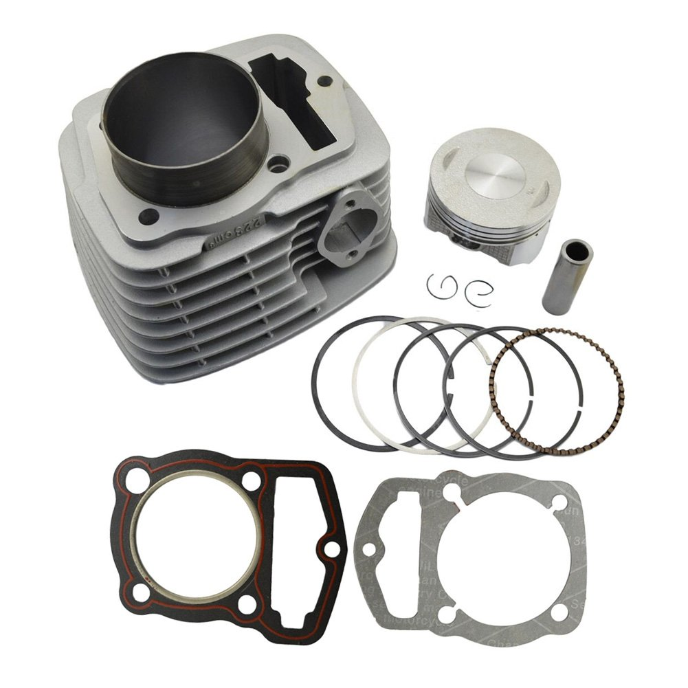 AHL Cylinder Head and Piston Kit and Gasket Set for Honda CRF230 2003-2014 / FTR223 FTR230 2003-2005 by AHL