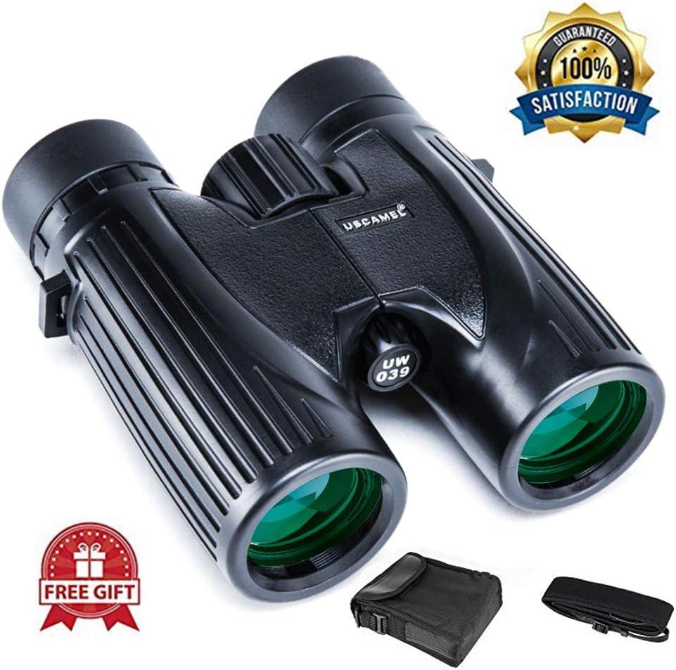 USCAMEL 8X32 Compact Lightweight Binoculars for Travel Waterproof Fogproof , Powerful Pocket Binoculars for Adults Kids Bird Watching 8×36