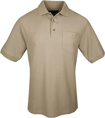 Tri-Mountain Men/'s 100/% Cotton Buttons Placket Chest Pocket Polo T-Shirt 169