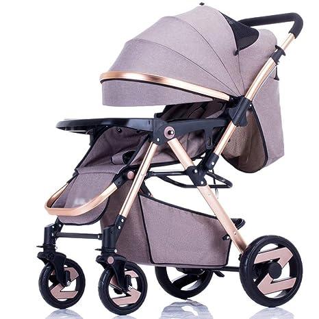 DEED Trolley Niño Take A Walk Light Paraguas Coche Cuatro Ruedas Collision Folding Puede Estar acostado