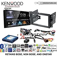 Volunteer Audio Kenwood DDX9704S Double Din Radio Install Kit with Apple Carplay Android Auto Fits 2007-2013 Silverado, Avalanche (Onstar and Bose)