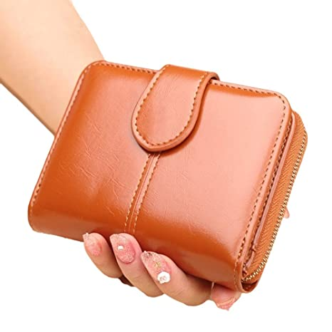 Cartera - Monedero de Piel Suave para Mujer RFID Billetera de Bloqueo para Damas con Tarjeta
