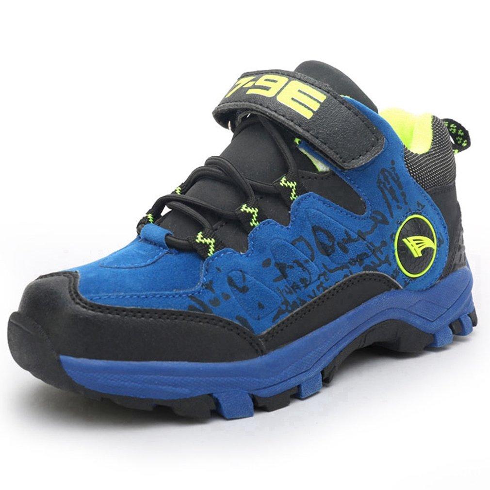 Hoxekle HO Boys Girls Sports Hiking Boots Waterproof Kids Toddler Suede Anti Slip Outdoor Warm Sneakers Shoes