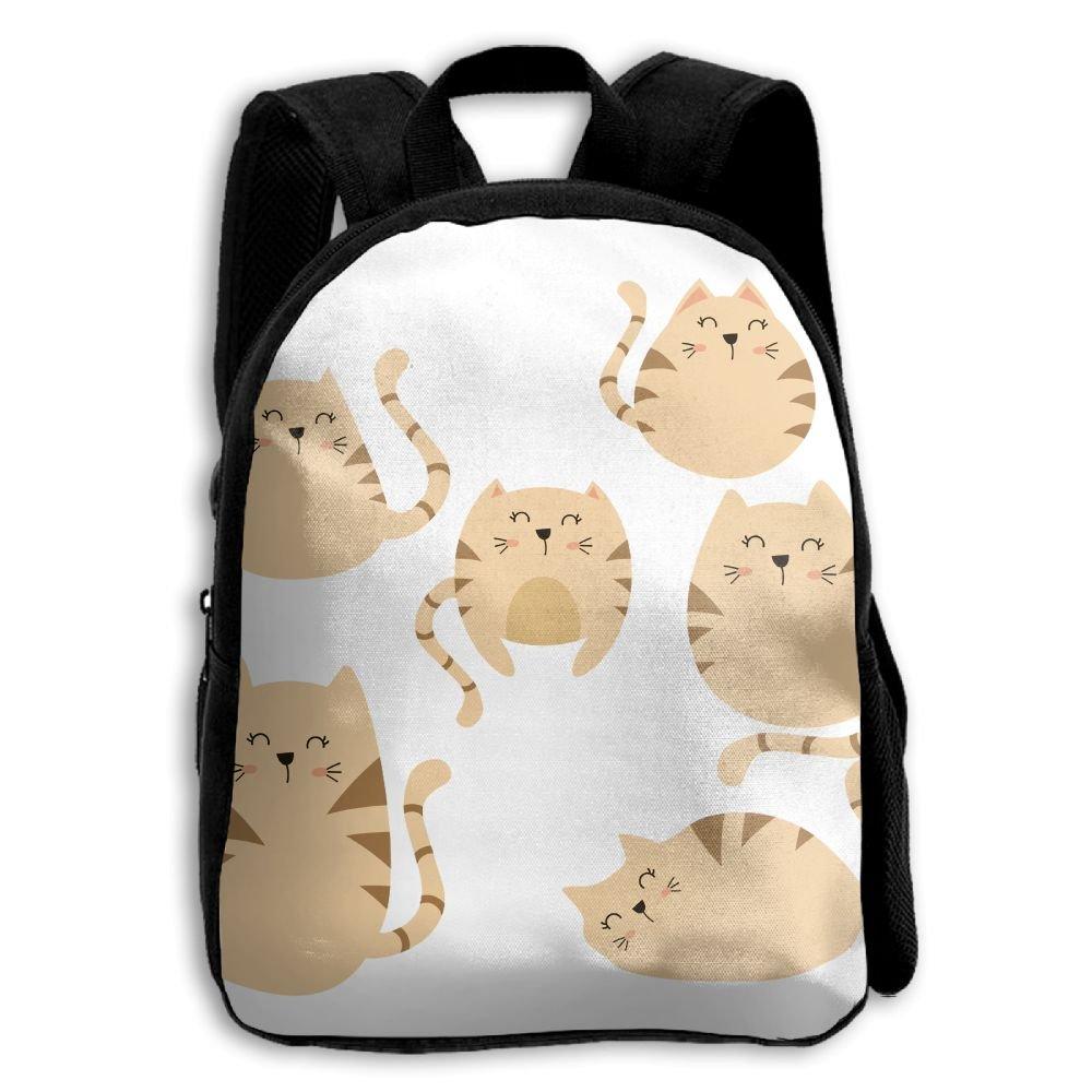 fidaljf Cartoon Catパターン子供の3dプリントファスナー付き旅行バッグ学校バックパック   B07DN88H72