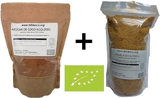 900g Panela Ecológica + 500g Azúcar de Coco Ecológico] Pack ...