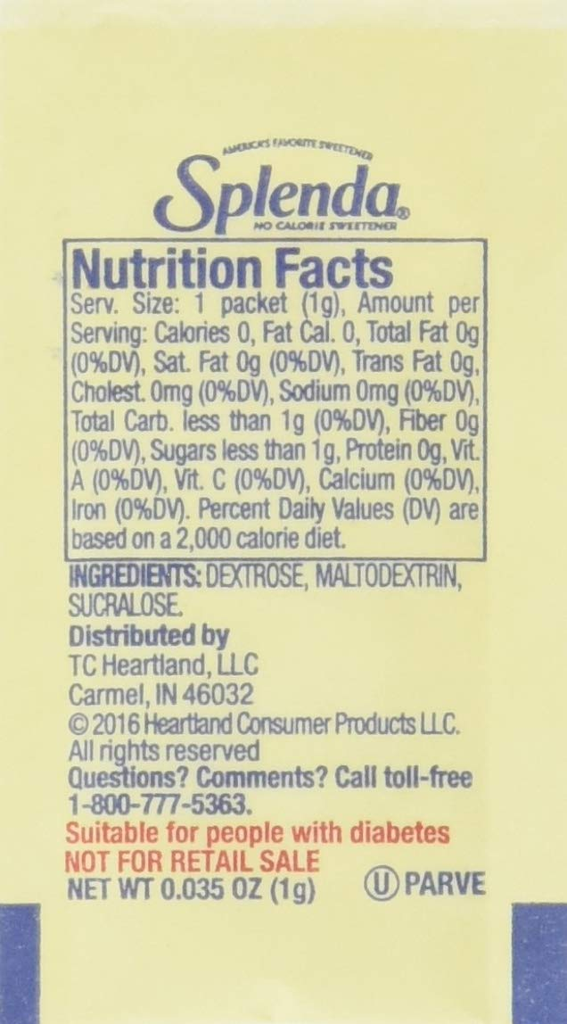 SPLENDA No Calorie Sweetener, Single-Serve Packets (2000 Count)