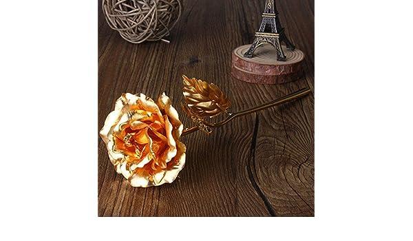 Shop square64 224 K Oro Pantalla Chapado en Oro Rose Gold Leaf Rose Boda Ofrece San Valentín Cumpleaños Nochevieja. Regalos Decorativa Flores: Amazon.es: ...
