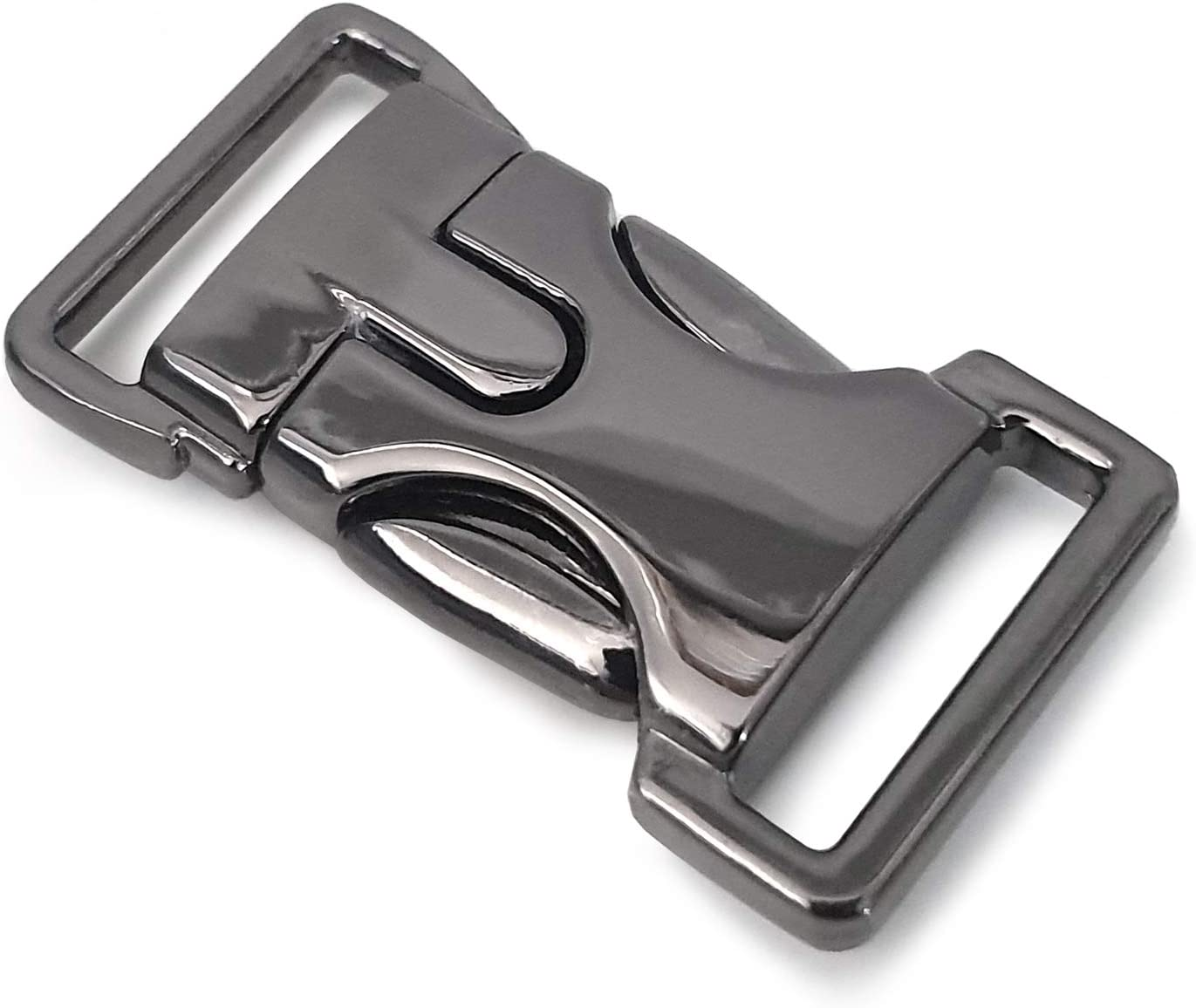 Rucksack 5//8 // Klippverschluss//Steckschlie/ßer//Steckverschluss f/ür Paracord-Armb/änder Farbe: Titan 2er Set Hundehalsb/änder Ganzoo Metall-Klickverschluss mit Feder-Verschluss