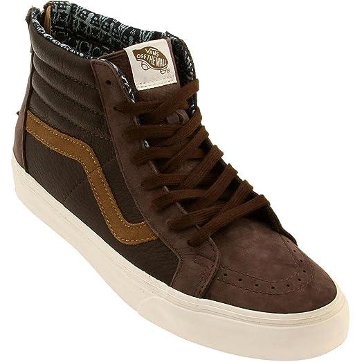 653c39dff3 ... Vans Men Sk8-Hi Zip CA - Leather Nubuck (brown coffee)- ...