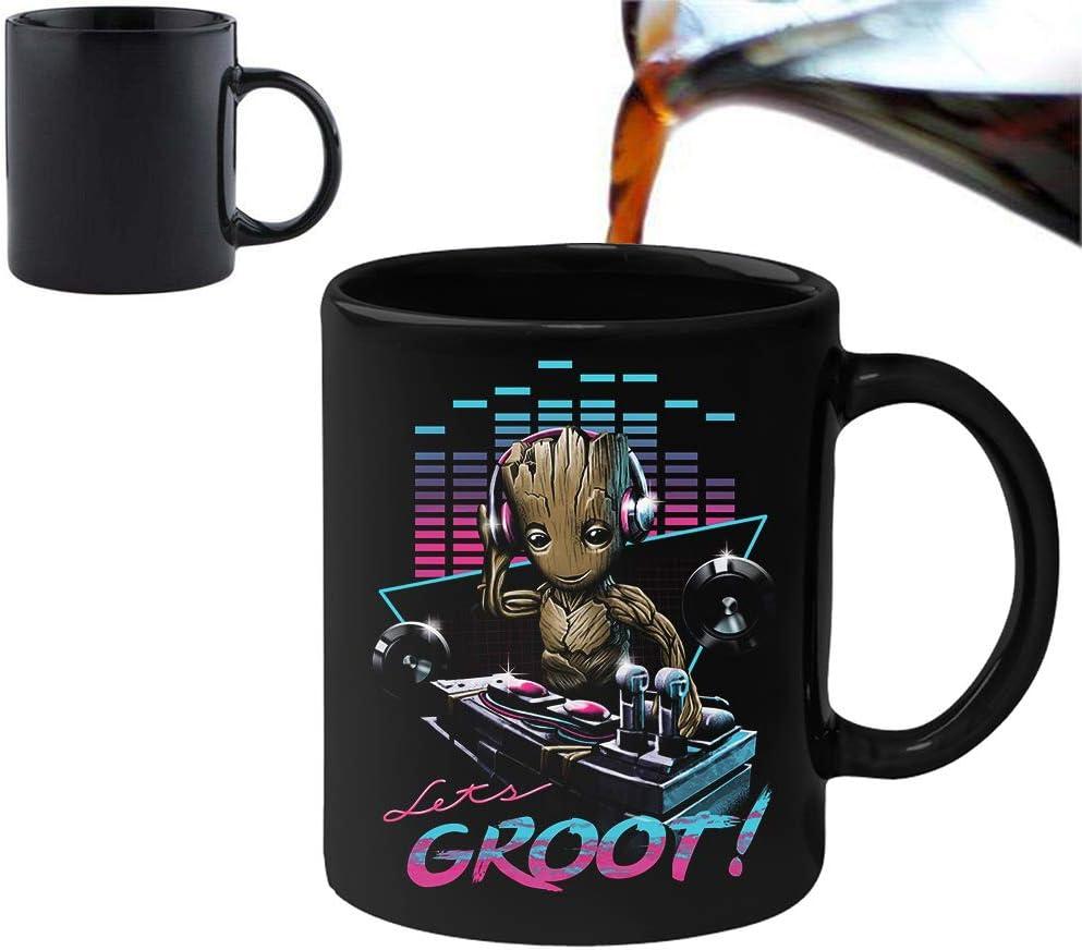 DJ Groot Novelty 11oz Magic Heat Changing Mug & Gift Box Set Tea Coffee Office Work Home