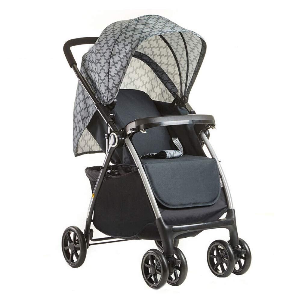 MILU 超軽量2方向ベビーカー折りたたみ式の快適で通気性のある乳児用ベビーカーは、座ってオプションで平らな2色を置くことができます (色 : グレイ ぐれい)  グレイ ぐれい B07QSJL1TK