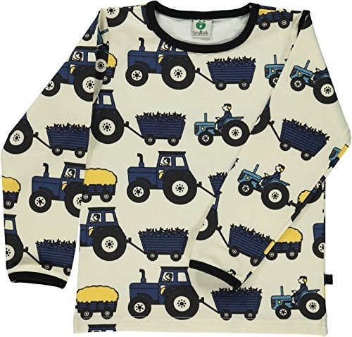 (Smafolk Long Sleeve Tractor T-Shirt - Kalk - 122-128 cm / 7-8 Years)
