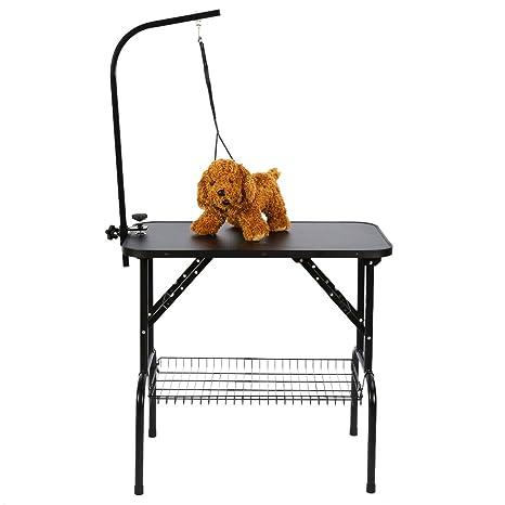 Mesa Aseo de Mascotas, Mesa Plegable con Ajustable Brazo para ...