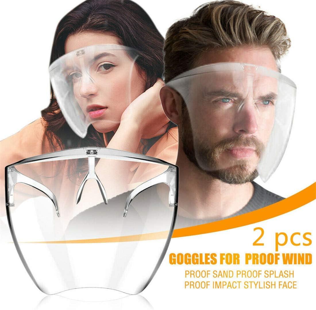 Blocc Protector Facial, Protector Facial, Protector Facial De Seguridad, Asistente De Máscara Facial, Protección Facial, Gafas, Protector Facial De Seguridad (2 pcs)