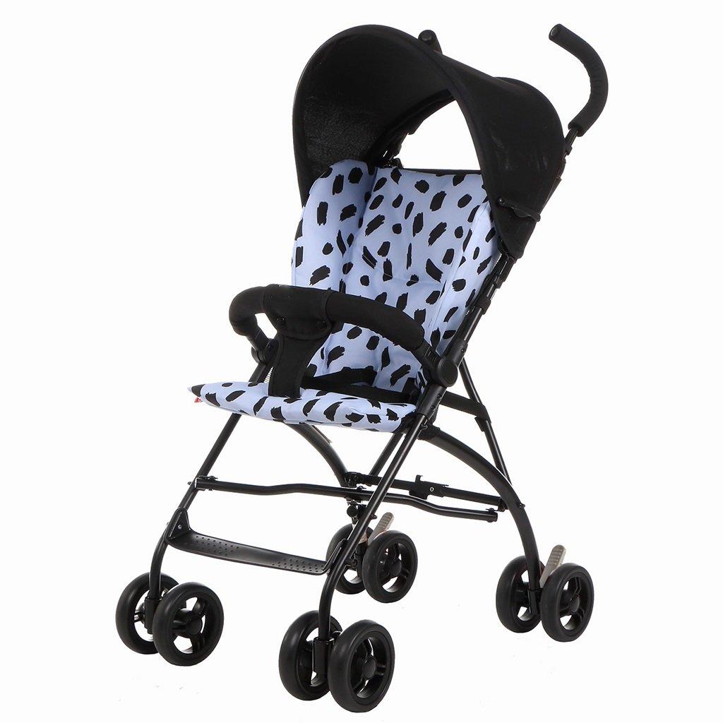 JIANXIN ベビーカー、折りたたみ式の8輪ショックアブソーバー携帯用傘、幼児用軽量ベビーカー、3色 (Color : Black)  Black B07F7RGLJ6