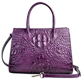 PIJUSHI Women Handbags Top Handle Satchel Leather Tote Bags for Ladies 8890(One Size, Violet Croco)
