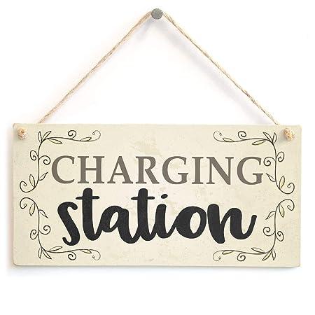 LORENZO Charging Station Nombre de la Flor de Madera Placa ...