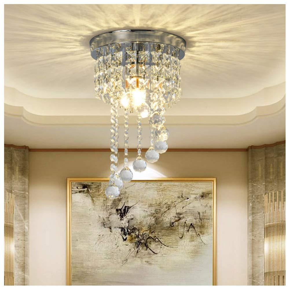 雪丽的家居 現代のミニマリストペンダントライトポーチledシャンデリアクリスタル天井照明クリエイティブ通路ハードウェアランプ   B07TQ8KWR4
