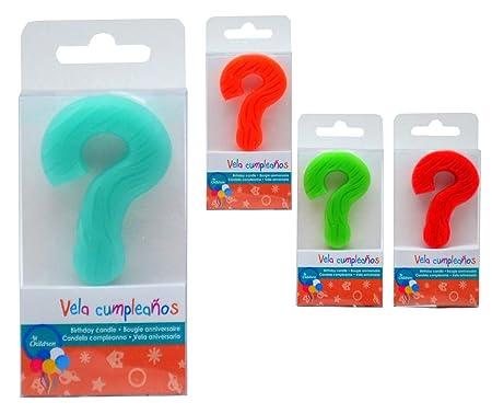 AR Vela cumpleaños símbolo Interrogante, Varios, 6: Amazon ...