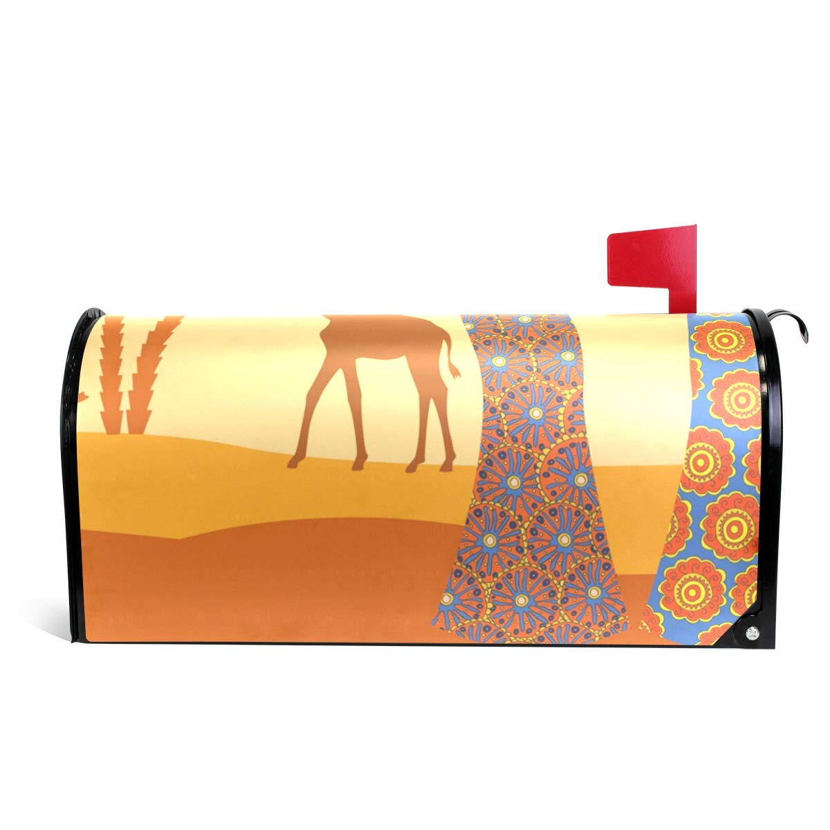 DEYYA African Women in Mountain Landscape Magnetic Mailbox Covers and Wraps Personalized Decorative Standard Size 64.7x52.8cm