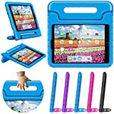 """New iPad 9.7 2018 2017 Kids Case 9.7in iPad Air 1 2 Case Shockproof Childproof Lightweight With Screen Protection Convertible Handle Stand Tablet Case for 6th 5th Generation iPad 9.7"""" Air Case Blue"""