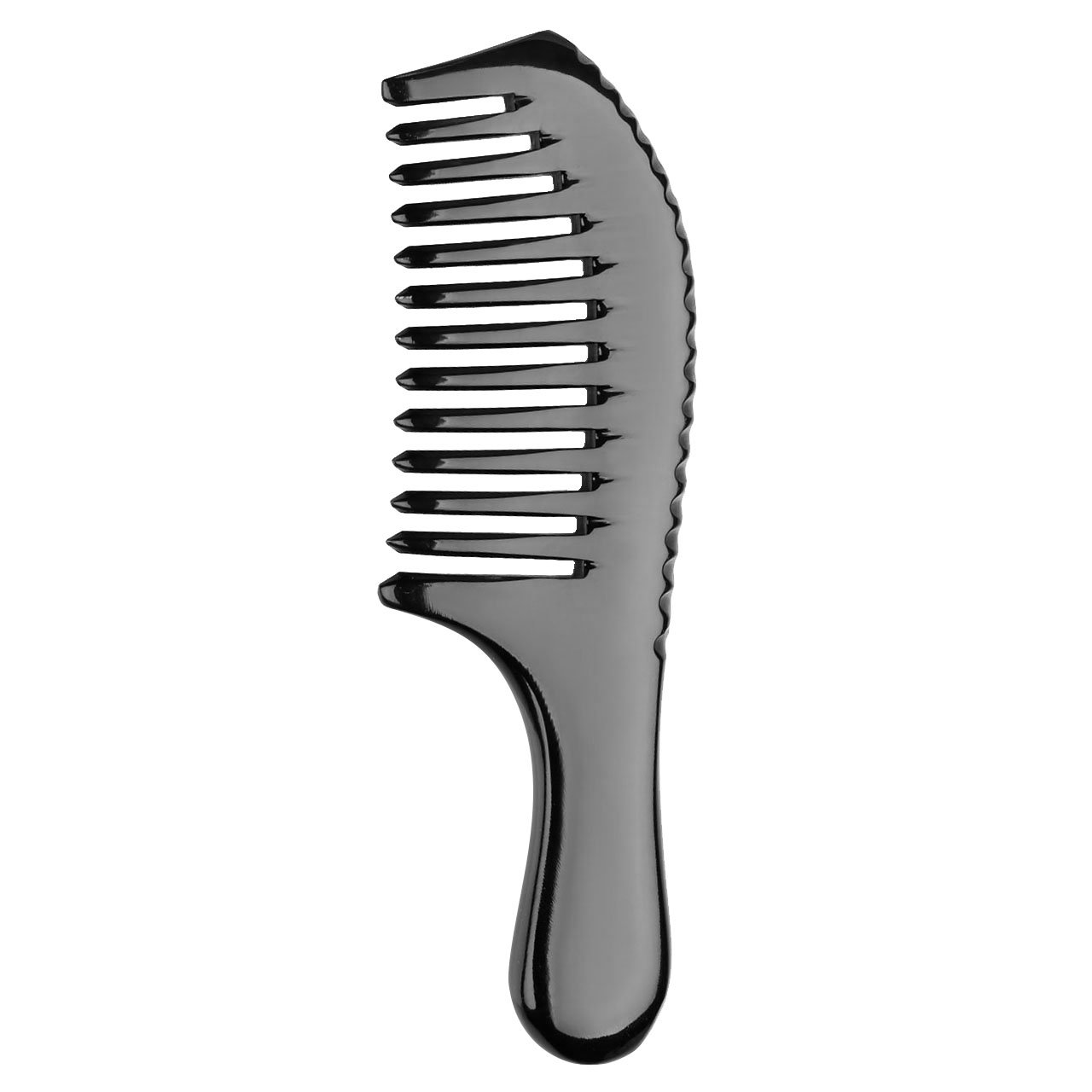 CCbeauty Hair Comb Handmade Natural Ox Horn Comb Hair Brush for Women Anti Static Wide Tooth