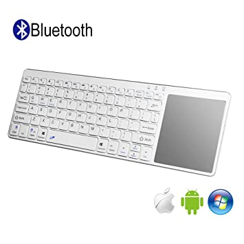 Teclado Inalámbrico Bluetooth con Multi-touchpad QWERTY, All-in-One Media Ultra