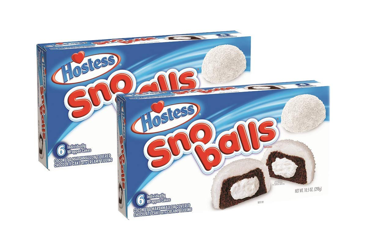 10.5oz Hostess Sno Balls, Pack of 12 snoballs, Packaging may vary by Hostess