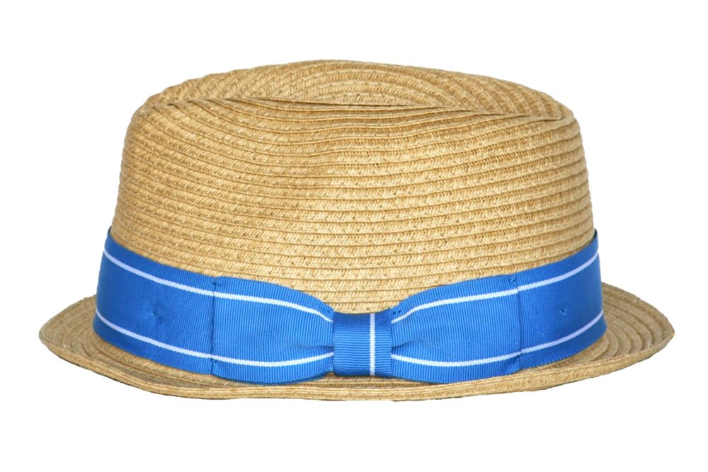 Born to Love Boy Straw Fedora with Blue Band -S (12-24 M)