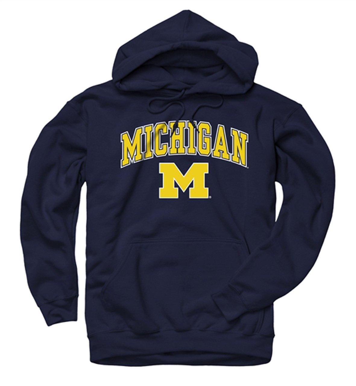 Campus Colors Michigan Wolverine Midsize Logo Hooded Sweatshirt, Medium