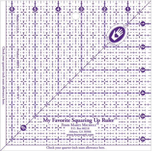 Marti Michell My Favorite Squaring Up Ruler, 6-1/2 by (Marti Michell Quilting)