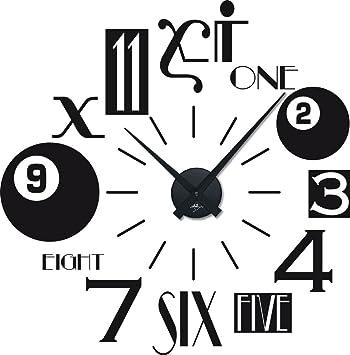 Amazonde Graz Design 800049schw070 Wandtattoo Uhr Mit Uhrwerk