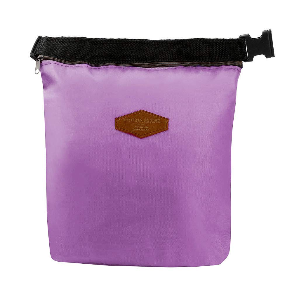 HighlifeS Lunch Bag Waterproof Thermal Fashion Cooler Insulated Lunch Box More Colors Portable Tote Storage Picnic Bags (Purple)