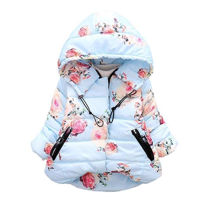 Abrigos Bebé, Dragon868 Moda Invierno cálido Encapuchado Abrigos Florales Chaqueta de bebé niña: Amazon.es: Ropa y accesorios